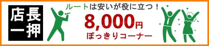 8,000円ぽっきりコーナー
