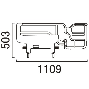 介助バー寸法 KS-096