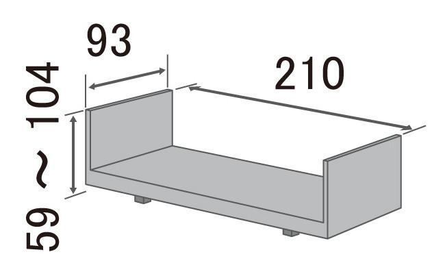 介護用品_介護ベッド_KQ9211_size